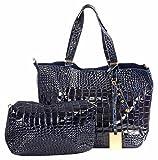 Abrazo Stylishly Yours Women's Handbag(Blue)(SIKN880)