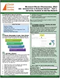 MICROSOFT PROJECT Standard & Professional 2013 Quick Reference Guide: Introduction to Microsoft Project Part 1 (203) - Initiating, Planning & Creating Projects