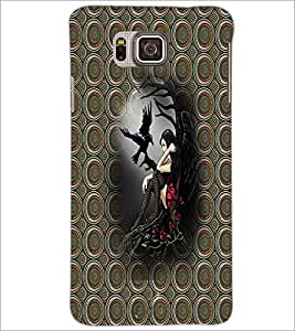 PrintDhaba Alone Girl D-3007 Back Case Cover for SAMSUNG GALAXY ALPHA (Multi-Coloured)