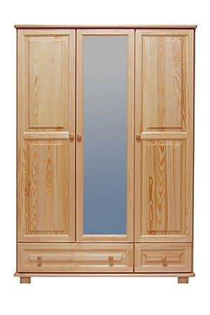 Kleiderschrank Holz natur 019 - Abmessung 190 x 133 x 60 cm (H x B x T)