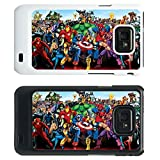 Marvel Superhero Cover case for Samsung Galaxy S2 i9100 - Heroes - 214 - White
