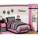 Pink And Black Madison Girls Children Teen Bedding 3pc Full Queen Set By Sweet Jojo Designs