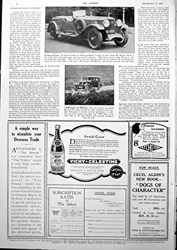 old-original-antique-victorian-print-isotta-fraschini-rolls-cum-bentley-italy-rover-car-1927-627g610