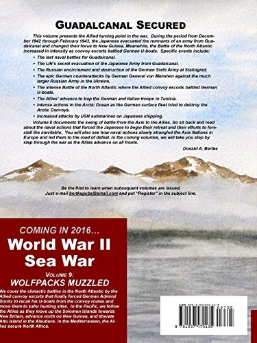 World War II Sea War, Vol 8: Guadalcanal Secured: Volume 8