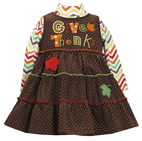 Bonnie Jean Thanksgiving Girls Corduroy Fall Jumper Set (12 Months)