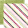 Echo Park Splendid Sunshine Sunny Stripe 12x12 Summer Scrapbook Paper