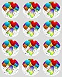 12 4th Birthday Rice Paper fairy cupcake 40mm circle toppers decoration
