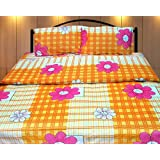 Cosmosgalaxy Cotton Double Bedsheet With Pillow Covers - Queen Size, Multicolor - B00SWKNGH4