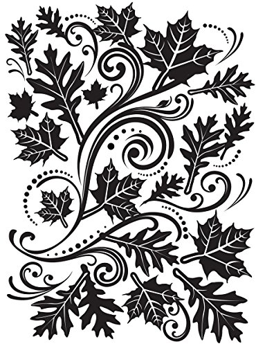 "Embossing Folder 4.25""X5.75""-Fall Leaf Background"