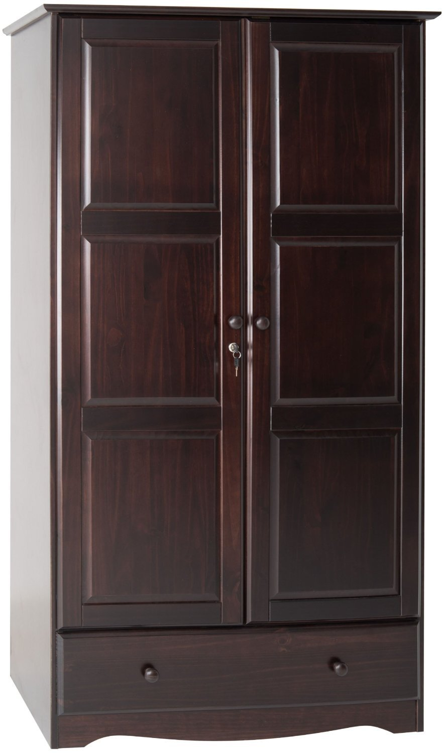100 solid wood universal wardrobe armoire closet by palace. Black Bedroom Furniture Sets. Home Design Ideas