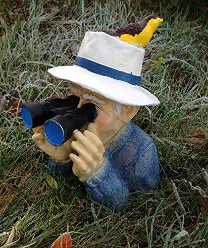 Opa mit Fernglas Spanner Figur Dekofigur 31cm
