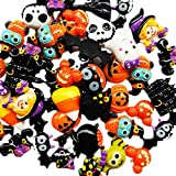 Chenkou Craft Ramdom 20pcs Mix Lots Resin Flatback Flat Back Halloween Craft Embellishment Wizard Pumpkin Lantern Ghost Spider Skull Castle