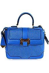 Rebecca Minkoff Women's Elle Mini Bright Blue Leather Shoulder Bag