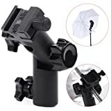 E Type Flash Hot Shoe Adapter Umbrella Holder Swivel Bracket Mount Light Stand