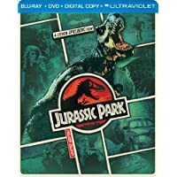 Jurassic Park Steelbook on Blu-ray + DVD + DIGITAL with UltraViolet
