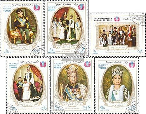 Jemen (Königreich) 567A-572A (kompl.Ausg.) gestempelt 1968 Krönung iranischen Kaiserpaares (Briefmarken für Sammler)
