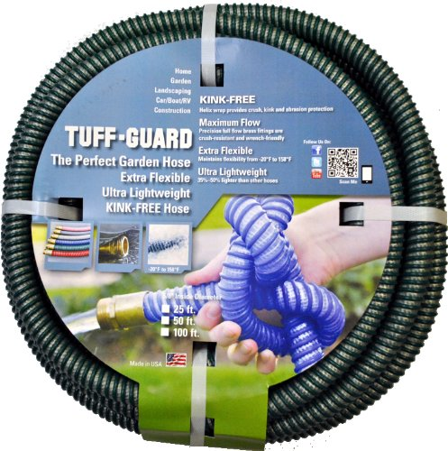 Tuff-Guard Extra Flexible, Kink Proof Garden Hose Assembly, Green, 5/8