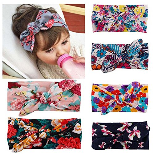 My Little Baby® Baby Girl Newest Turban Headband Head Wrap Knotted Hair Band 6 pack (Shower Head 45cm compare prices)