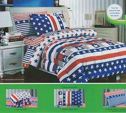FT-Home-Fashion-5pcs-KID-Twin-Size-Comforter-Sheet-Set-Boysgirls