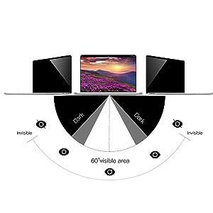 Privacy Screen MacBook Pro 16 inch, MacBook pro 16 Privacy Screen Filters Compatible with MacBook Pro 16 Inch 2019 /Anti- Spy &Anti-Glare Film (Color: black, Tamaño: Macbook pro 16 inch)