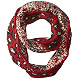 Betsey Johnson Women's Pretty Kitty Infinity Muffler, Red, One Size