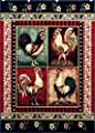 Rooster Style Area Rug # L-379