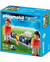 Playmobil - 4727 - Jeu de construction - Secouristes et joueur blessé