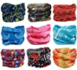 Kingree 9PCS Outdoor Multifunctional Sports Magic Scarf, High Elastic Magic Headband with Uv Resistance, Headscarves, Headbands,(Flora Print 14)
