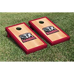 Alabama Crimson Tide Cornhole Game Set Hardcourt Version by Gameday Cornhole