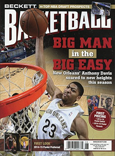 Current Beckett Basketball Monthly Price Guide Card Value Magazine June 2015 Anthony Davis 074470999775