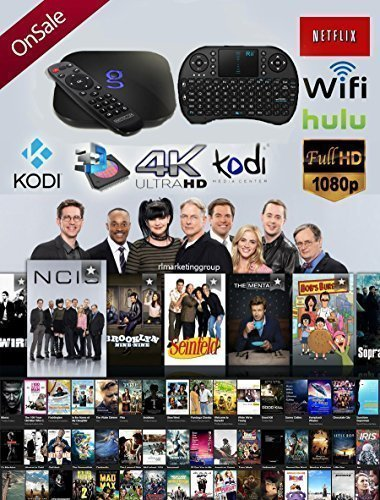 Matricom G-Box Q² Quad/Octo Core Android TV Box [2GB/16GB/4K] Fully Loaded and Ready to Watch (Supports Amazon Prime Video) with Mini 2.4GHz (BACKLIT REMOTE) Wireless Touchpad Keyboard with Mouse (Gbox Quad compare prices)