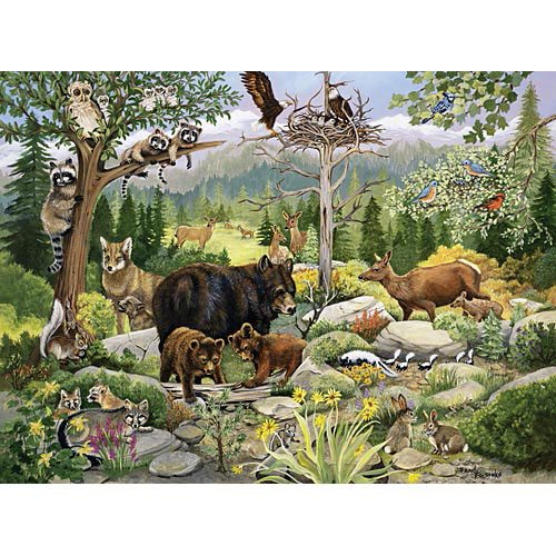 Animal Jigsaw Puzzles Kritters In The Mailbox Animal