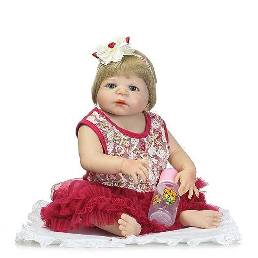 Terabithia 57cm Lifelike Gentle Touch Silicone Full Body Joli comme Princess Reborn bébé Fille Poupées