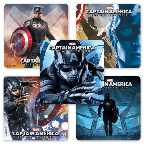 Captain America 2: Winter Soldier Stickers - 75 Per Pack