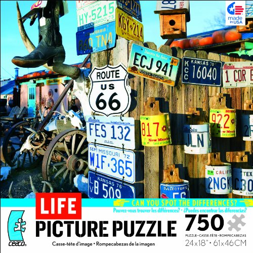 Life Magazine Picture Puzzle Get Your Kicks on Route 66 750 Piece Jigsaw Puzzle