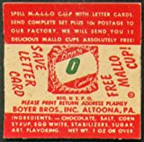 "Mallo Cup Save Letter Card ""O"" 1950s Boyer Bros"
