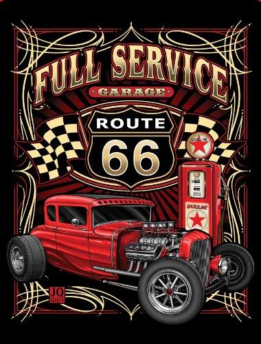 Full Service Garage High Quality Plush Raschel Queen Size Blanket - Hot Rod front-169926