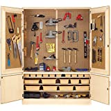 """Diversified Woodcrafts TC-17 Solid Maple Wood Foundry Tool Storage Cabinet, 60"""" Width x 84"""" Height x 22""""Depth, 3 Shelves"""