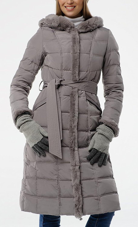 "SID-B507 Damen Daunenmantel ""SNOWIMAGE"" mit Echtfellkapuze grau (Länge ca.100cm) jetzt kaufen"