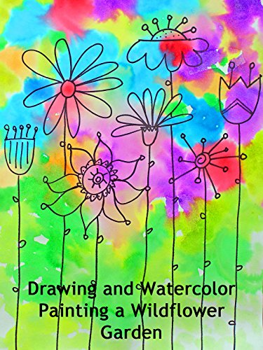 Drawing and Watercolor Painting a Wildflower Garden
