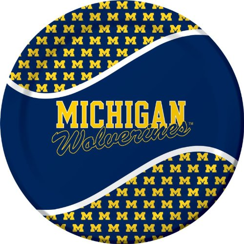 Creative Converting Michigan Wolverines Dinner Paper Plates (8 Count) - 1
