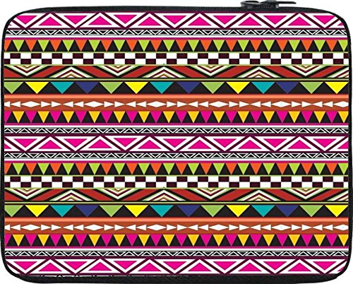 """Snoogg Aztec Multicolour 15"""" inch to 15.5"""" inch to 15.6"""" inch Laptop netbook notebook Slipcase sleeve Soft case cover bag notebook / netbook / ultrabook carrying case for Macbook Pro Acer Asus"""
