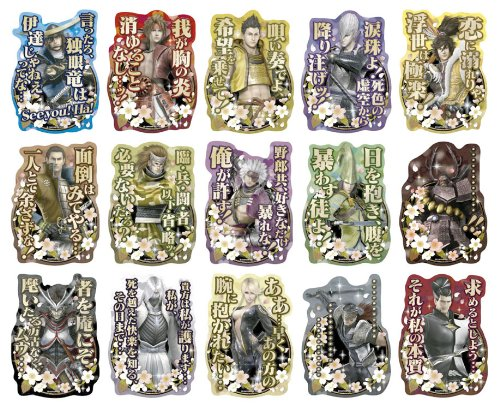 Sengoku BASARA military commander sticker collection BOX (japan import)