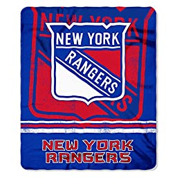 NHL New York Rangers Fade Away Printed Fleece Throw, 50-inch by 60-inch