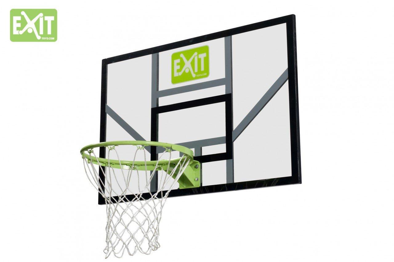 EXIT Galaxy Board+Dunkring+Netz 46.40.30.00 / Basketballkorb mit starkem+flexiblen Ring mit Netz + Basketballrückwand / Polycarbonat+Metall günstig online kaufen