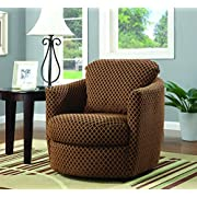 Swivel Upholstered Chair Brown