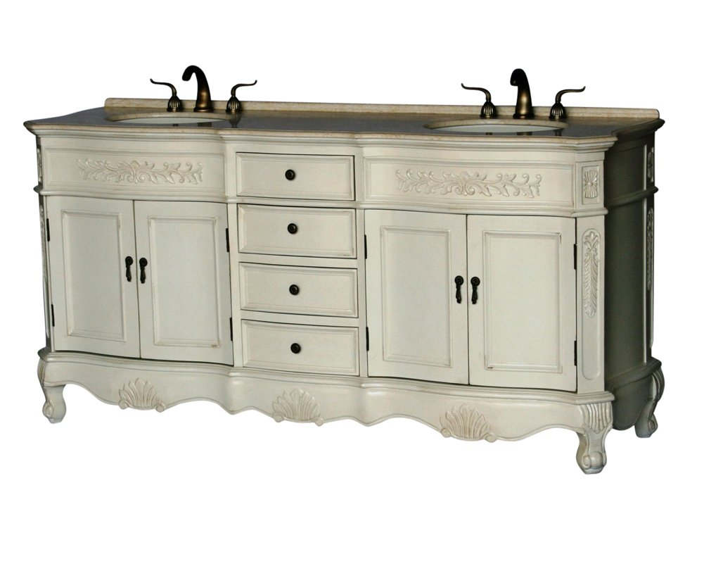 72-Inch Antique Style Double Sink Bathroom Vanity Model 2003-261 BE 0