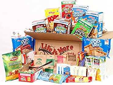 LET THEM KNOW HOW MUCH YOU CARE! This School College Student Breakfast Care Package is made especially with all of your Loved One's morning healthy treats. Package includes: Kellogg's Cereal: 2 Frosted Flakes, 2 Cocoa Krispies, 2 Froot Loops, 1 Corn ...