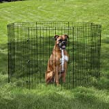 PetEdge Steel Easy Exercise Dog Pen, 48-Inch, X-Large, Black