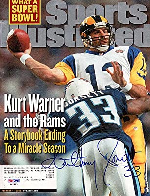 Anthony Dorsett Autographed Sports Illustrated Magazine Tennessee Titans - PSA/DNA Authentic Signed Autograph